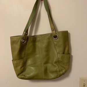 Fossil Green Leather Handbag